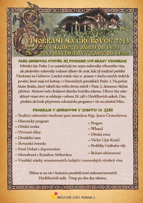 Pozvánka na vinobraní 2013