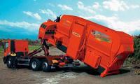 Stroj s dieselovým motorem jako kontejnerová nástavba