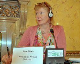 O mírových rezolucích s Evou Zillén, poradkyní švédské organizace Kvinna till Kvinna