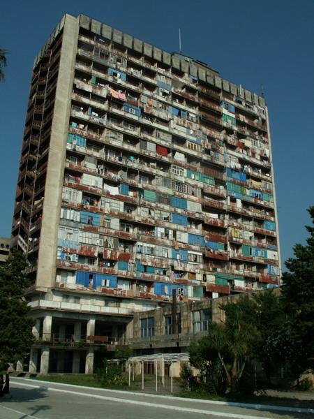 Uprchlíci z Abcházie stále žijí ve velmi špatných podmínkách, Batumi, Gruzie