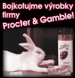 - Ochránci zvířat vyzývají k bojkotu výrobků firmy Procter & Gamble -