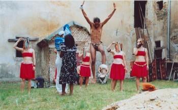 -Foto Cultura Africa: Vystoupení na zámku Čečovice-