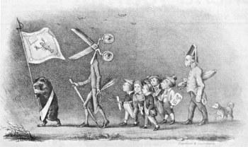 -Karikatura z roku 1847-