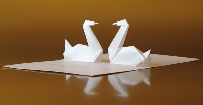 3D přání labutě