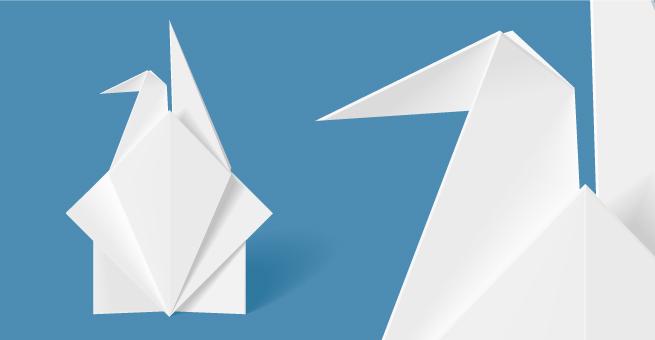 vector Letter Crane