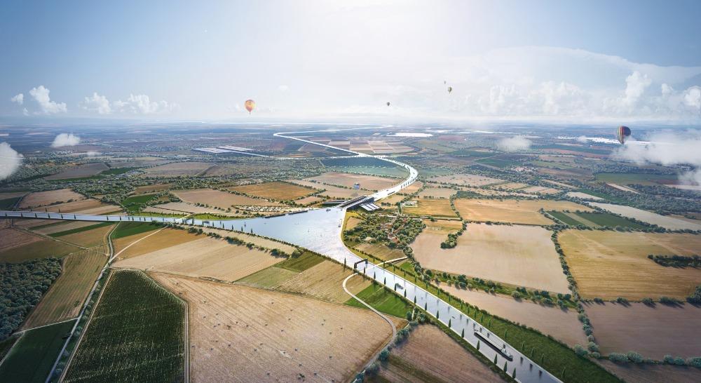 Vizualizace křižovatky DOL u Přerova - Křižovatka tří moří.