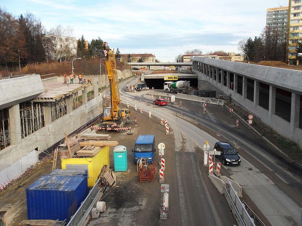 Stavba tunelu Žabovřeská, Brno