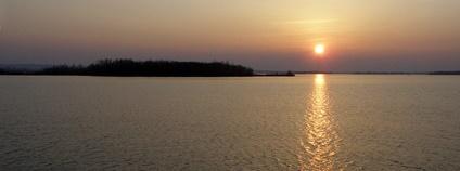 Nové mlýny při západu slunce Foto: Daniel Baránek Wikimedia Commons