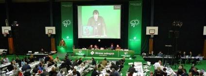 Sjezd Strany zelených, který proběhnul v prosinci 2009 v brněnské hale Morenda.