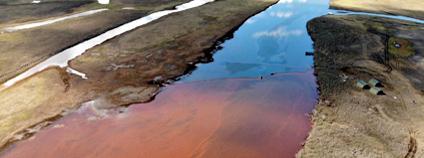 Únik ropy v Norilsku Foto: Greenpeace