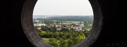 Pohled z rozhledny v pražské botanické zahradě Foto: Botanická zahrada Praha