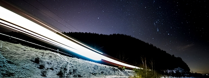 noční vlak Foto: Kristian Odberg Flickr