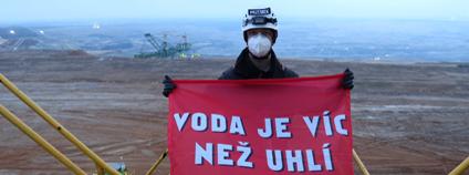 Protest Greenpeace v dole Turów Foto: Max Zielinski Greenpeace