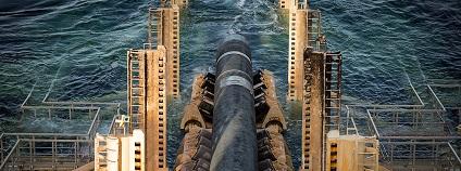Položení potrubí Nord Stream 2 ve švédských vodách v Baltském moři Foto: nord-stream2.com