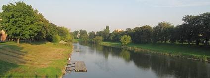 Bečva v Přerově Foto: palickap Wikimedia Commons