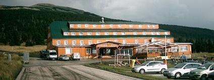 Špindlerova bouda v Krkonoších Foto: Qwark Wikimedia Commons