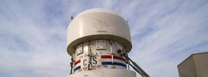 Kontejner na radioaktivní odpad Foto: Bill Ebbesen Wikimedia Commons