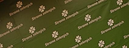 Logo Strany zelených na Sjezdu SZ 2010. Foto: Martin Singr/Ekolist.cz