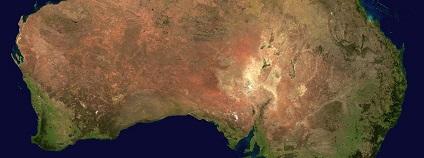 Austrálie mapa Foto: WikiImages pixabay