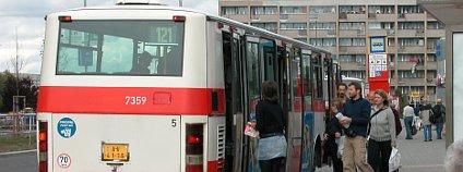Autobusová zastávka v Praze