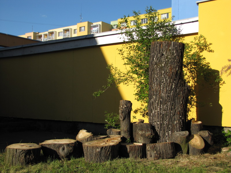 Broukoviště v přírodní zahradě Centra globální a ekologické výchovy Cassiopeia v Českých Budějovicích