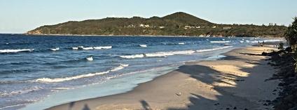 Hlavní pláž na Byron Bay na východě Austrálie Foto: David McKelvey Flickr.com
