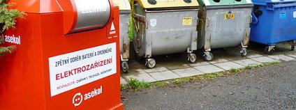Červené stacionární kontejnery by se stávají součástí českých měst. Zdroj: www.amic.cz