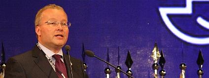 Ministr životního prostředí Tomáš Chalupa při svém projevu na konferenci Rio+20. Foto: Jan Stejskal / Ekolist.cz