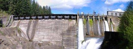 Bývalá přehrada Condit na White Salmon River Foto: Duk / Wikimedia Commons