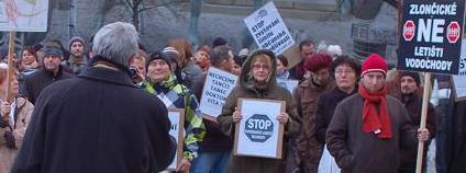 Demonstrace proti zvyšování hlukových limitů. Foto: Martin Singr/Ekolist.cz