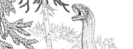 Brontosauru. Ilustrace: Russell Hawley/Science/AAAS