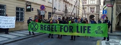 Akce Extinction Rebellion na Praze 1 Foto: FB Extinction Rebellion