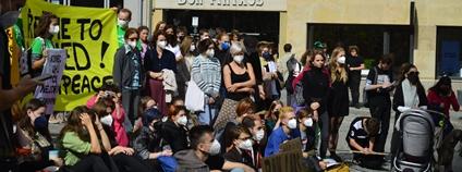 Demonstrace Fridays for Future v Brně Foto: Fridays For Future Česká republika Facebook