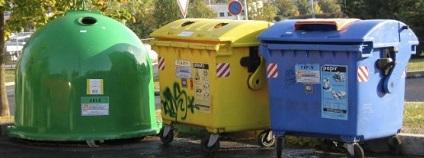 Kontejnery na třídění odpadu Foto: mzp.cz