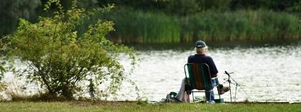 Rybář u rybníka Foto: DavidCardinez Pixabay