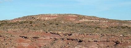 Souvrství Candeleros, naleziště fosílií dinosaurů v Argentině Foto: Damián H. Zanette Wikimedia Commons