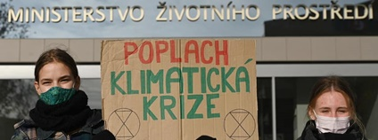 Blokáda MŽP Foto: Fridays for Future Facebook