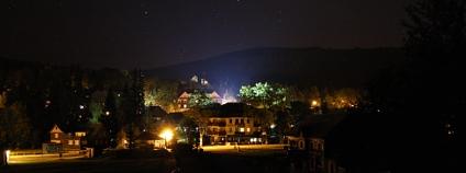Harrachov v noci Foto: Jan Stejskal Ekolist.cz