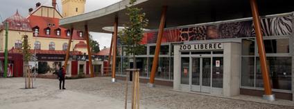 Vchod do Zoo Liberec. ZOO Liberec