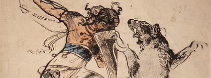 """Výstava nese jméno Trapper & Boa Osudová dobrodružství Jana a Mikoláše Alše. V názvu expozice byly použity """"indiánské"""" přezdívky Mikoláše a jeho staršího bratra Jana."""