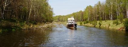Hotová část kanálu Dunaj Odra v Polsku.