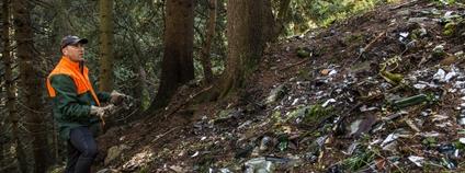 Úklid odpadků v KRNAP Foto: Správa KRNAP