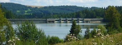 Vodní nádrž Kružberk Foto: Jaki96 Wikimedia Commons