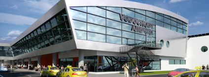 Vizualizace letištního terminálu ve Vodochodech. Foto: Letiště Vodochody