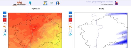 Libuše - Meteorologický portál pro Prahu Foto: libuse.urbipragensi.cz