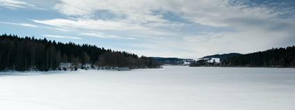 Lipno v zimě Foto: Martin Fořt Flickr