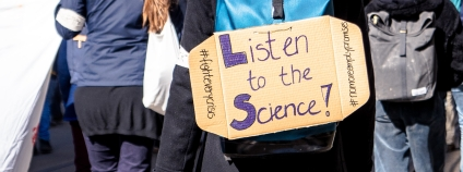 cedule poslouchejte vědu listen to the science