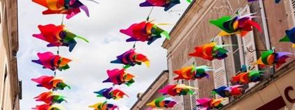 Deštníky v ulici Foto: Město Olomouc