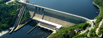 Letecký pohled na vodní dílo Orlík Foto: Povodí Vltava