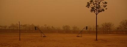 Písečná bouře v Číně Foto: makzhou Flickr